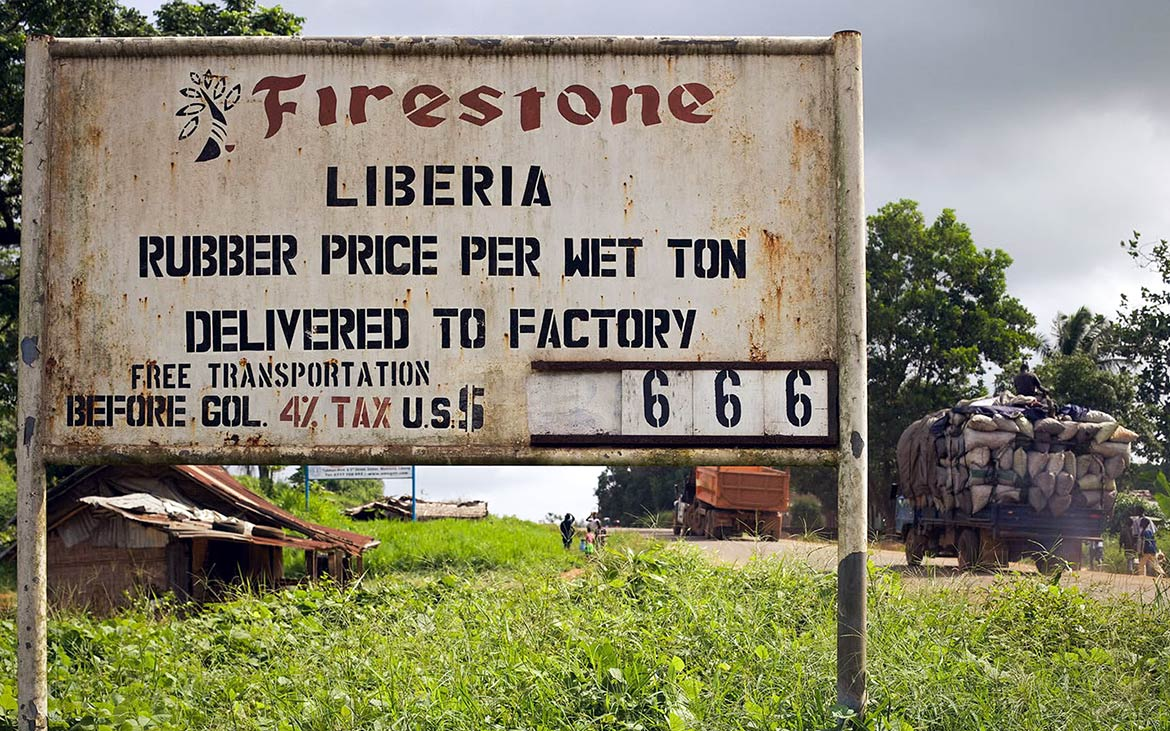 Harbel in Margibi County is home to Firestone's rubber plantation