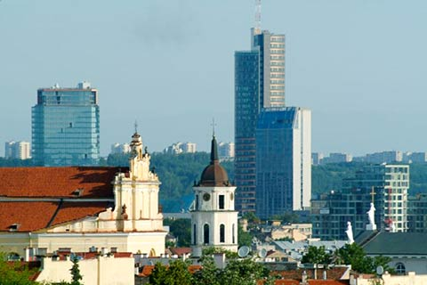 Vilnius, capital city of Lithuania