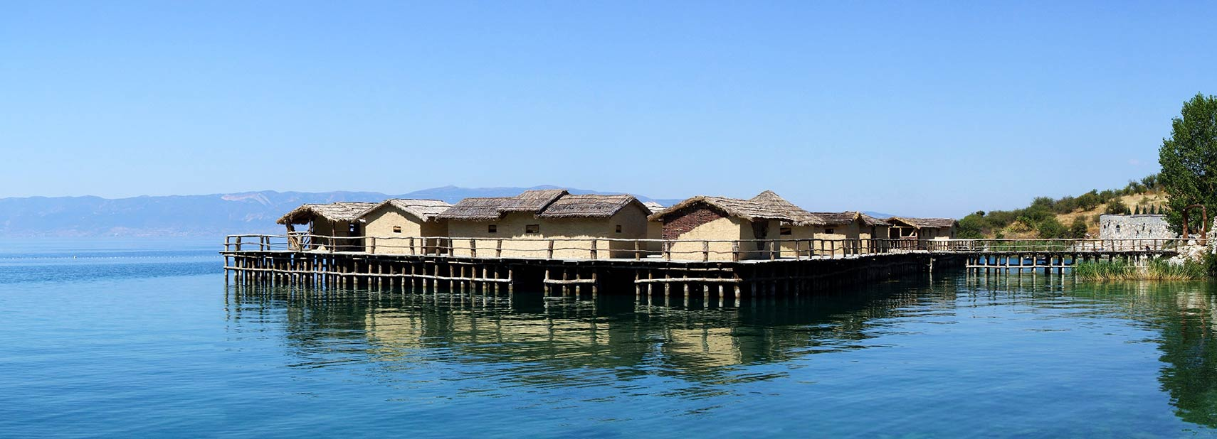 Bronze Age stilt houses on Lake Ohrid