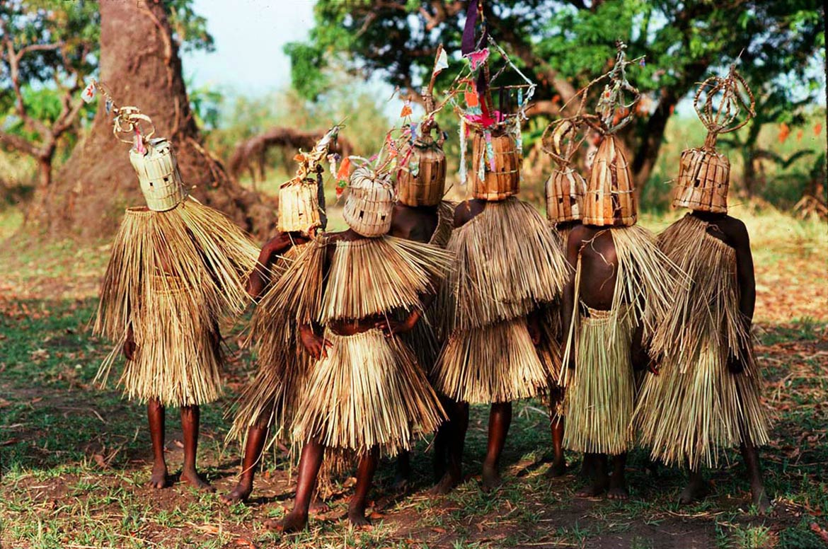 Boys of the waYao tribe participating in circumcision