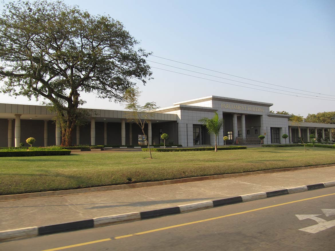 Malawi's Parliament Building in Lilongwe