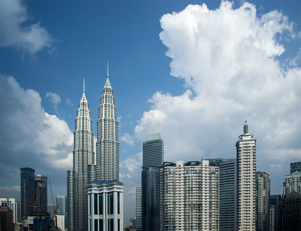Kuala Lumpur Central Business District with Petronas Twin Towers