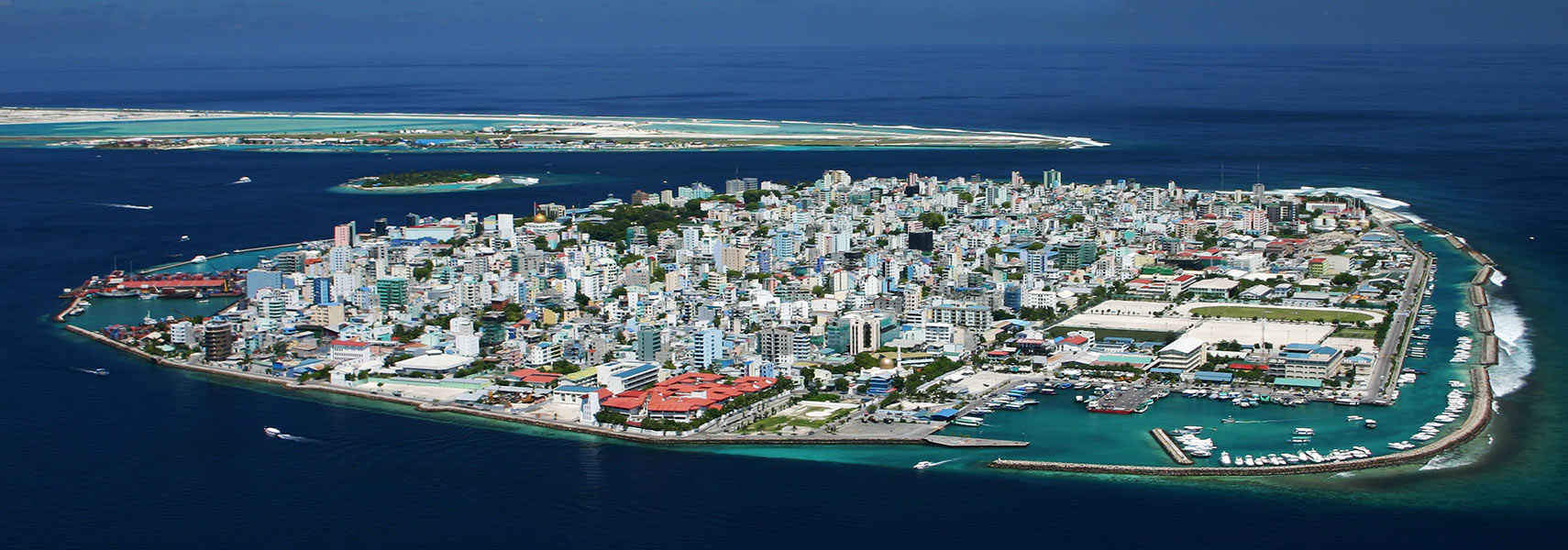 Malé island with the capital of the Maledives