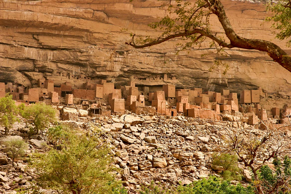 Cliff dwellings in the Bandiagara escarpment