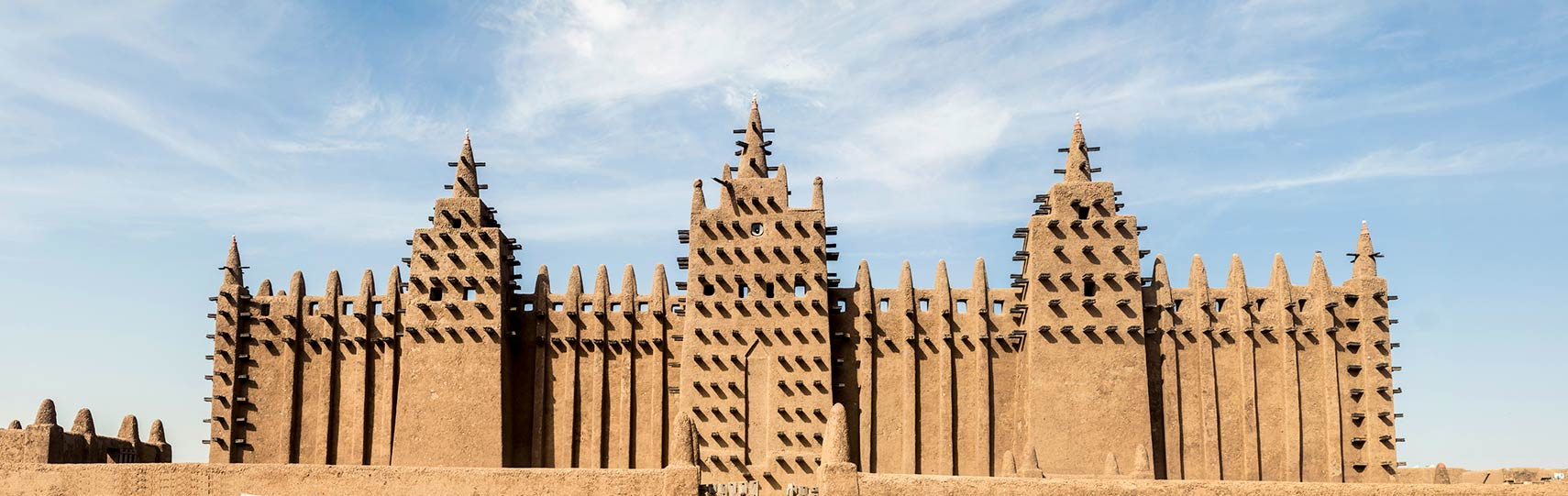 Adobe Great Mosque of Djenné in Mali