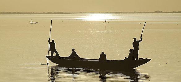 Niger river in Mali