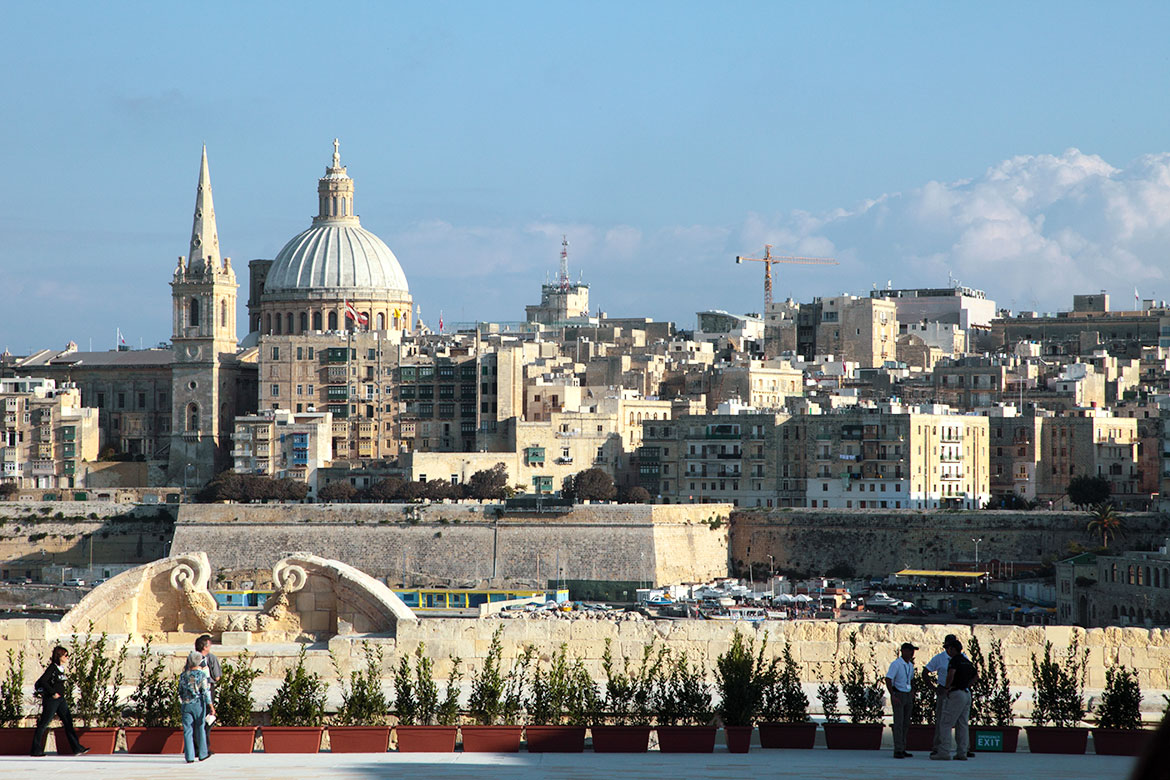 View on Valletta from Fort Manoel