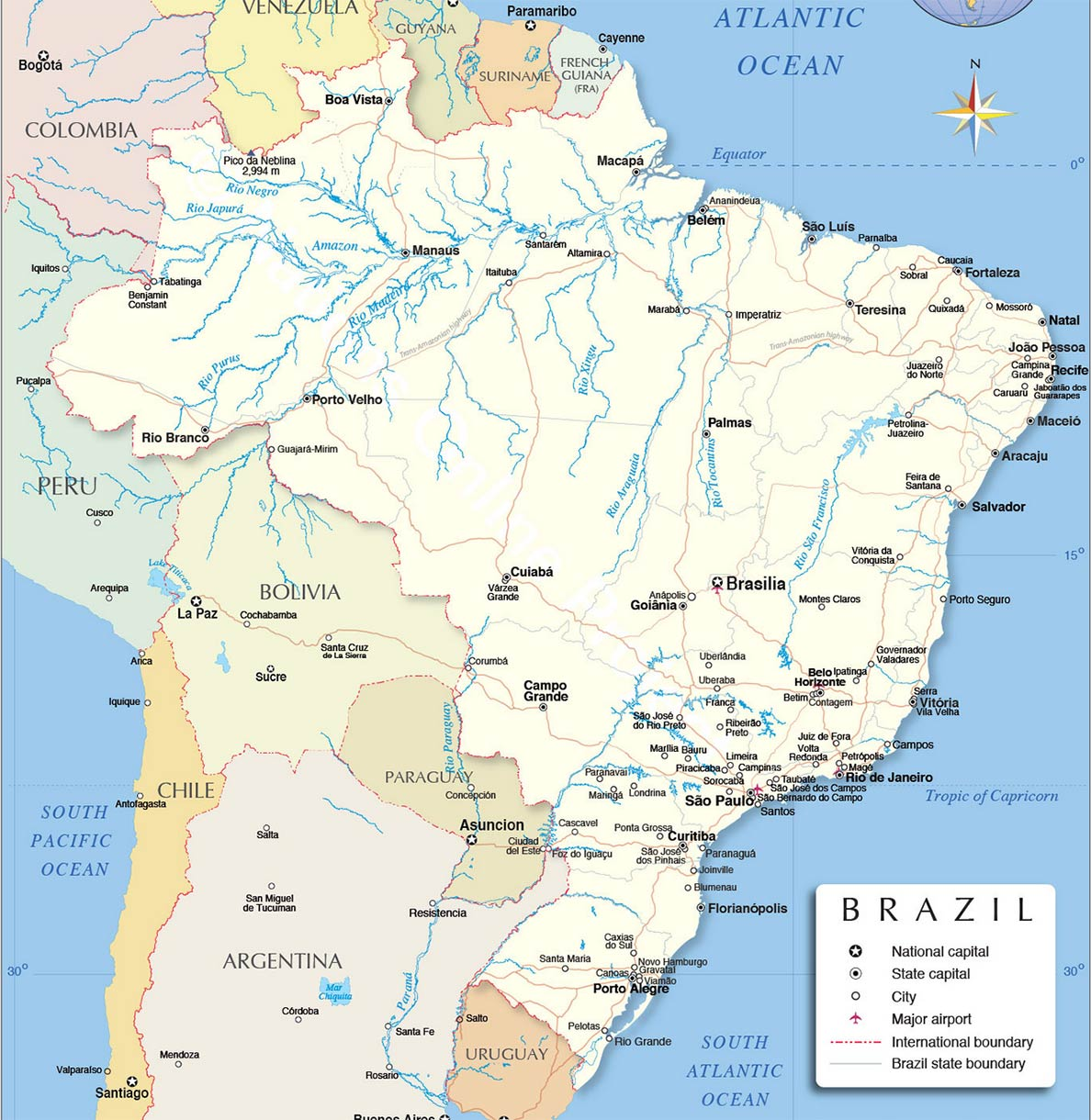 Image of: Brazil Country Profile South America Nations Online Project