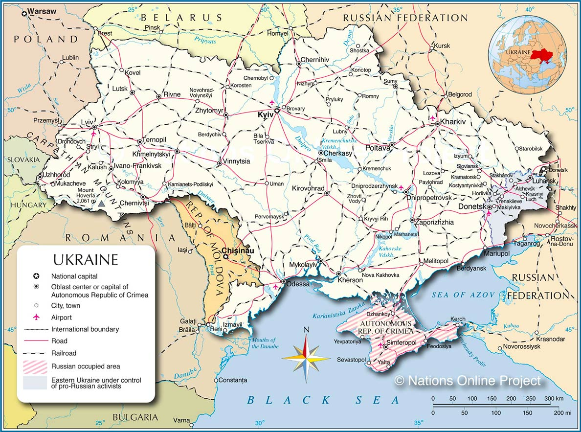 Ukraine - Country Profile - Nations Online Project