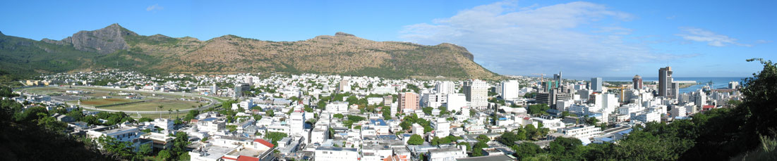 Panorama of Port Louis, Mauritius