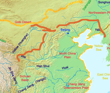 Famous landmarks satellite view of great wall of china nations great wall in quin dynasty gumiabroncs Images