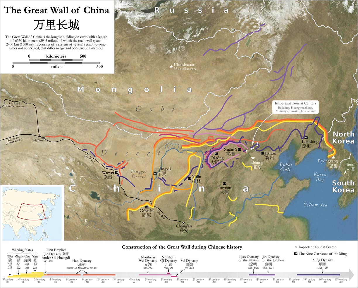 Show Map Of China.Famous Landmarks The Great Wall Of China Nations Online Project