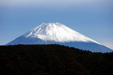 Mount Fuji represents for the Japanese beauty and harmony and is also a distinct symbol of Japan.