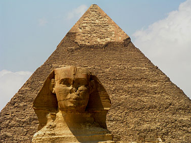 Giza Pyramid and the Great Sphinx near Cairo, Egypt