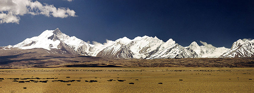 Mountain Range Kailash region Tibet