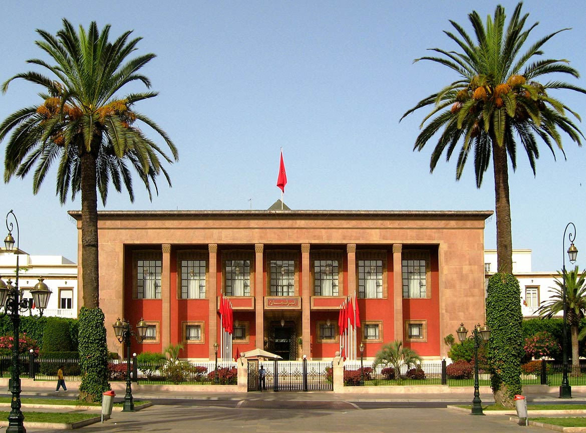 Parliament building in Morocco's capital Rabat