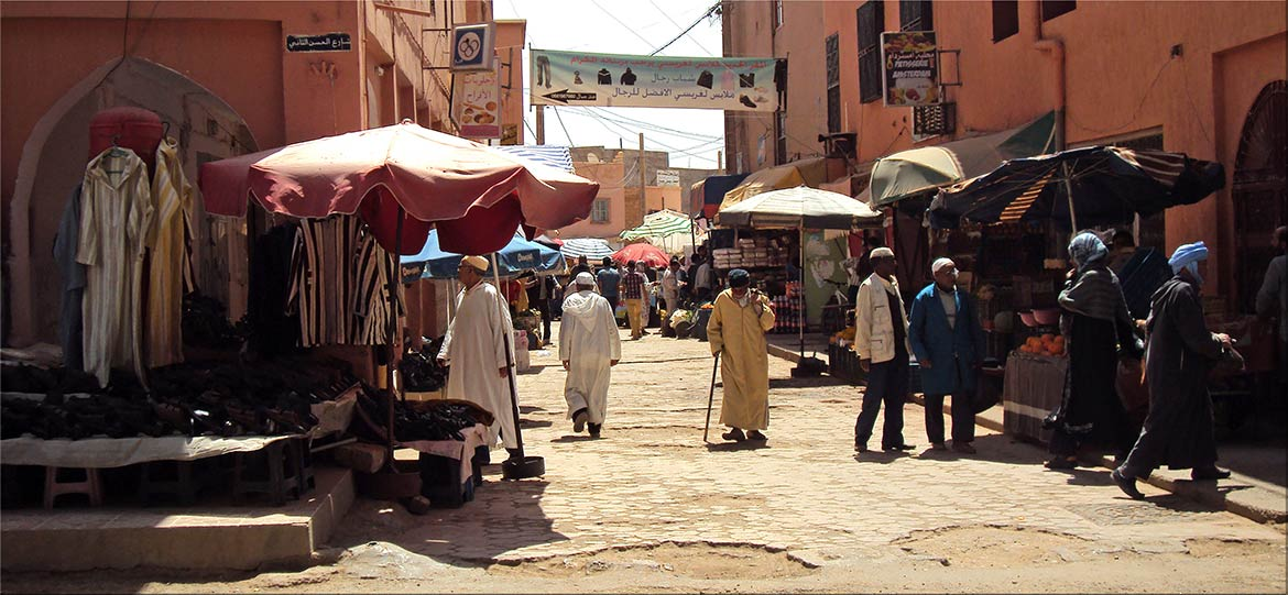 Tinghir street life. The city is the capital of Tinghir Province, Morocco
