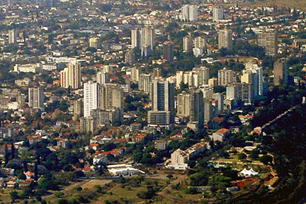 Maputo seen from southeast