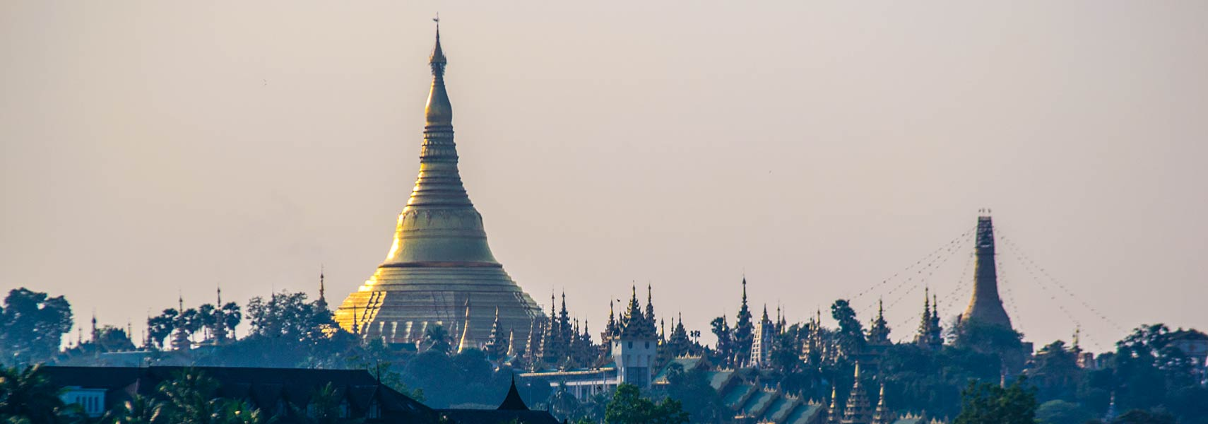 Shwedagon Pagoda at sunset Yangon Myanmar Countries