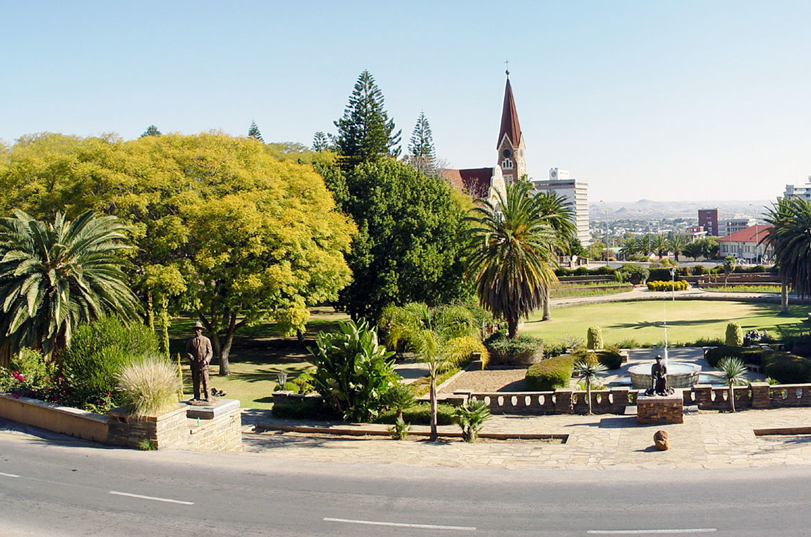 Parliament Gardens in Windhoek, Namibia