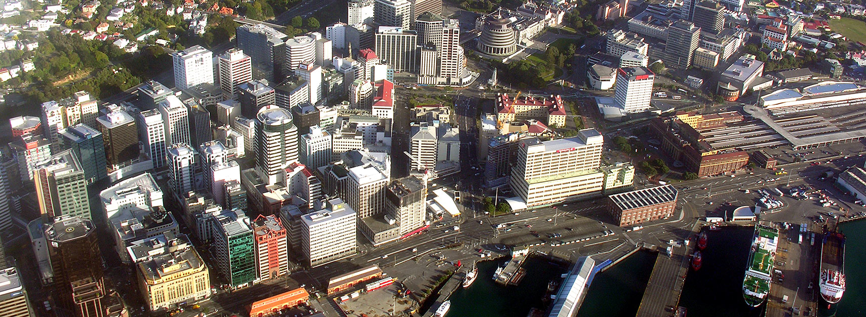 Aerial view of Wellington, capital of New-Zealand