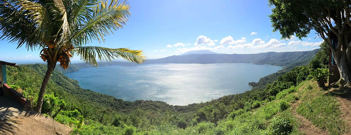 Laguna de Apoyo lake, Masaya and Granada departments