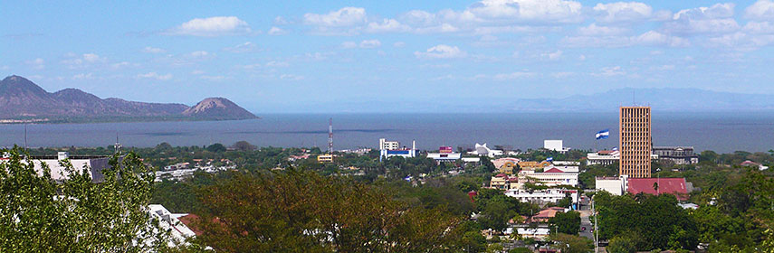 Panorama of Managua city