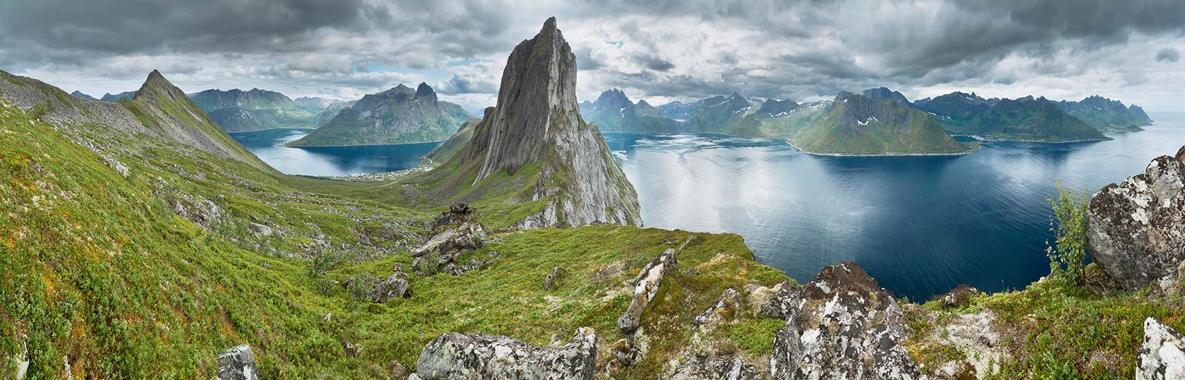 Panoramic view on Senja island, Troms county, Norway