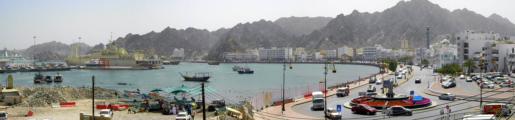 Muscat with the port and corniche
