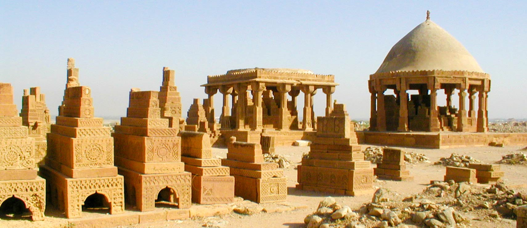 Chaukhandi tombs in Sindh province, Pakistan