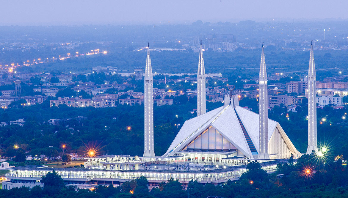 Shah Faisal mosque in Islamabad