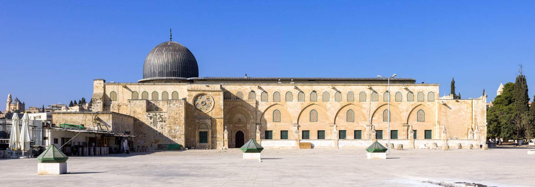 Al-Aqsa Mosque on the Temple Mount in the Old City of East Jerusalem