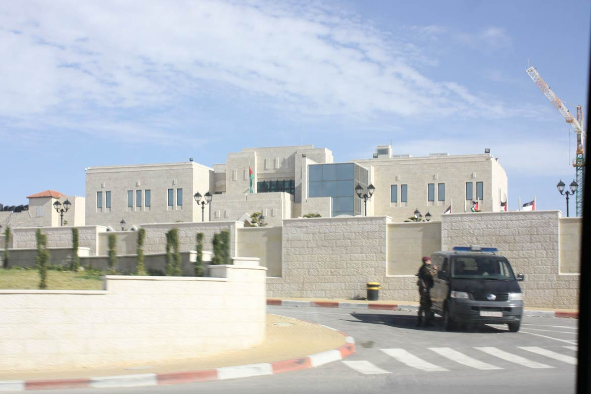 Palestinian Presidential Compound in Ramallah, West Bank