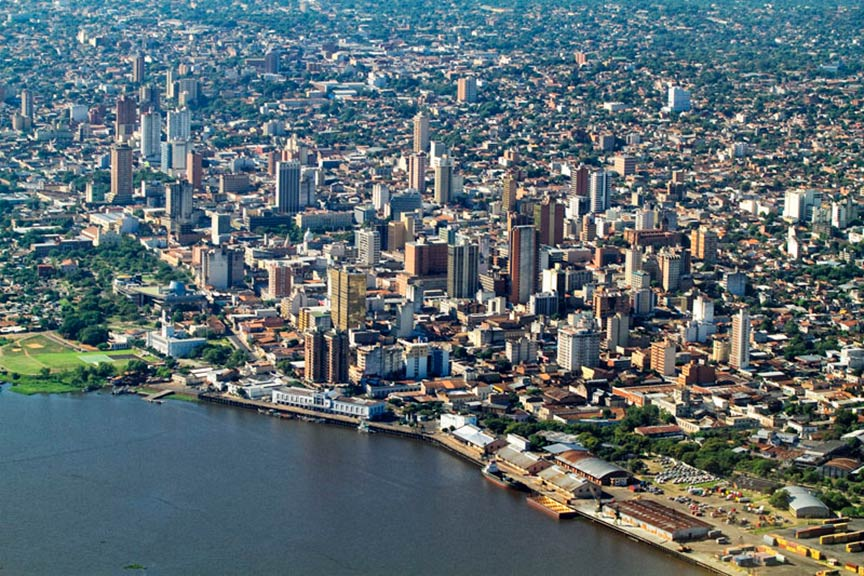 Aerial view of Asuncion