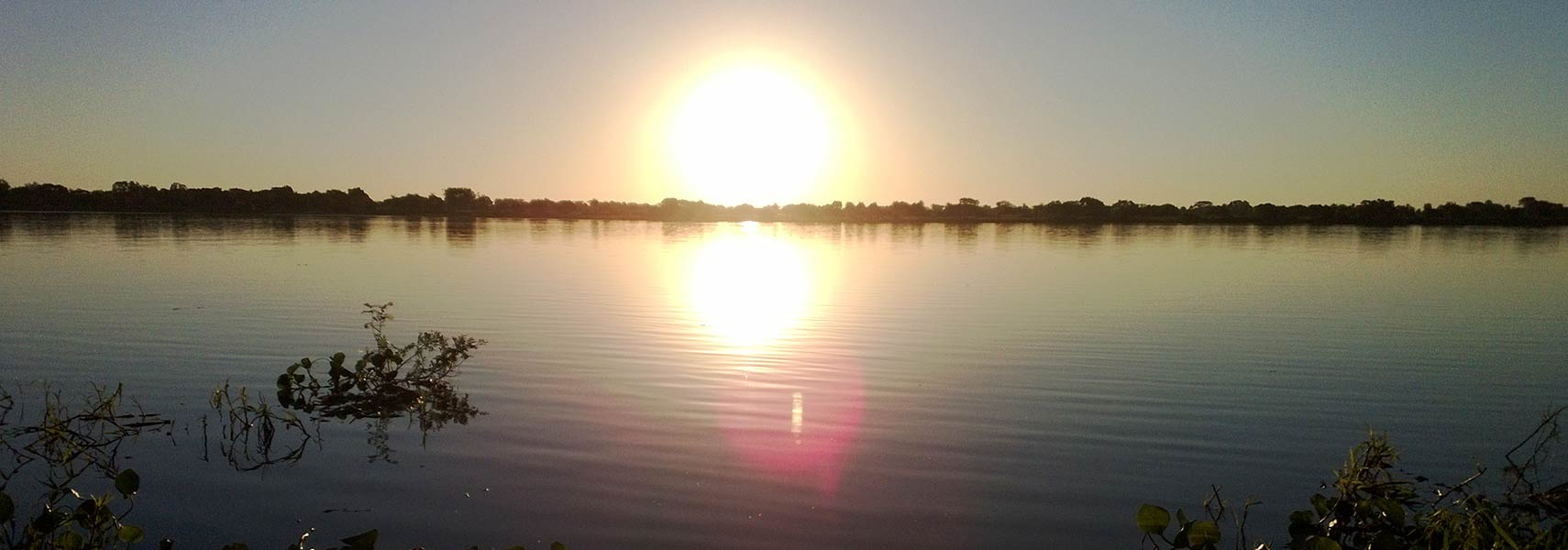 Sunset at Paraguay river, Paraguay