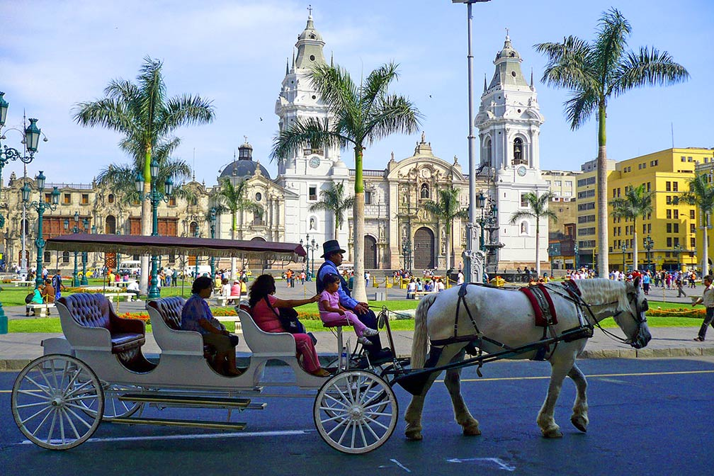 Plaza de Armas with cathedral of Lima