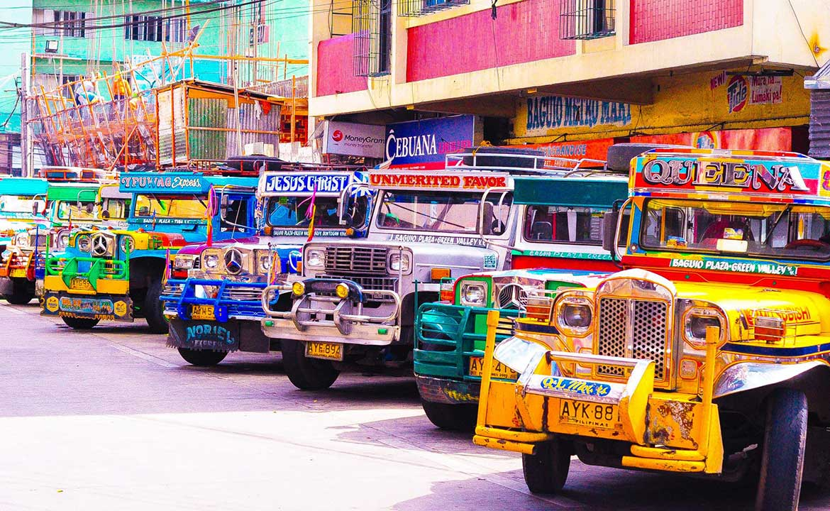 Jeepneys in Baguio City, Philippines