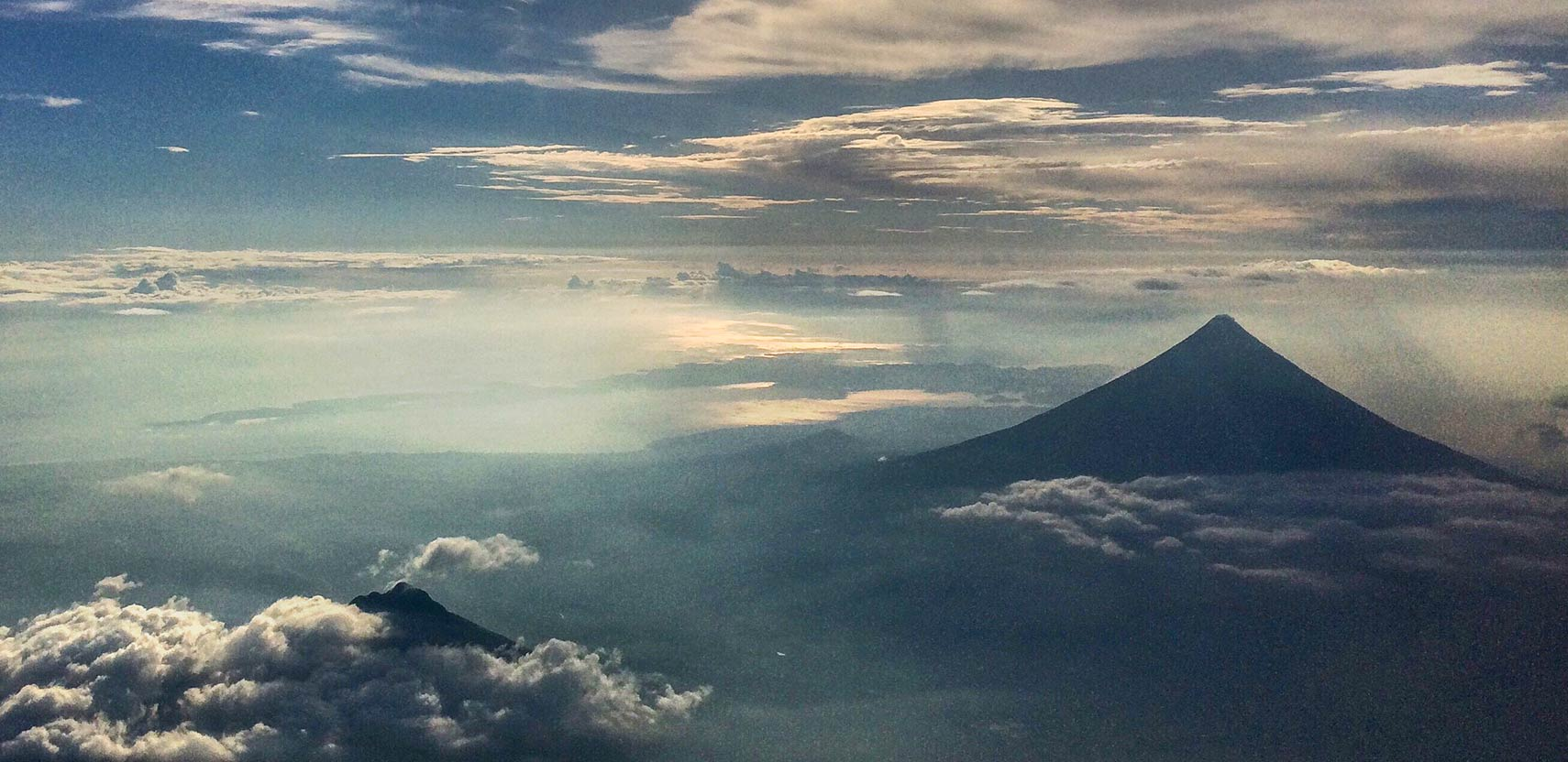 Mt. Mayon, a stratovolcano on the island of Luzon, Philippines