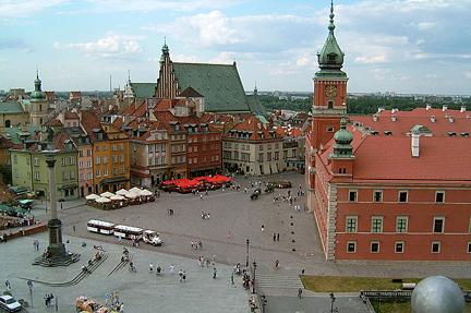 Google Map of Warsaw (Warszawa), Poland - Nations Online Project