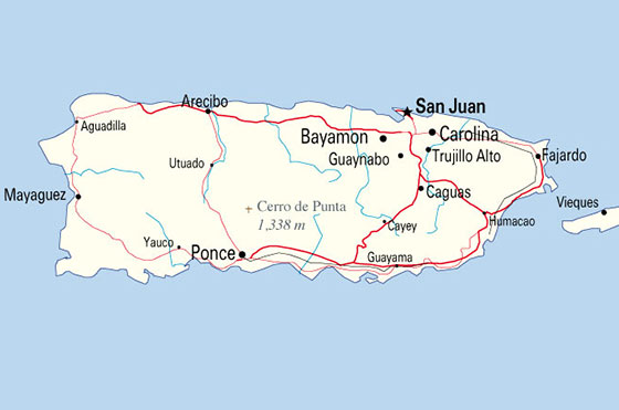 Puerto Rico Country Profile Commonwealth Of Puerto Rico - Map of puerto rico caribbean islands