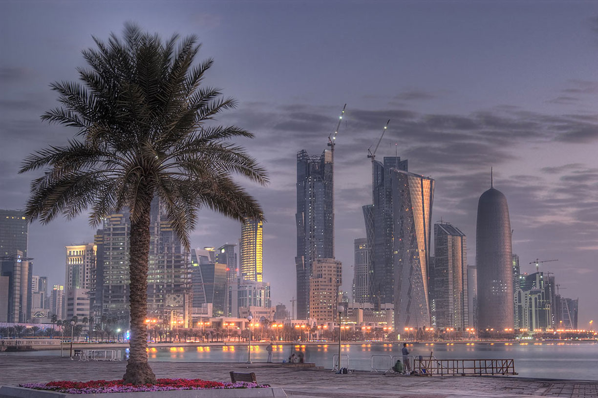 Doha's West Bay seen from the Corniche