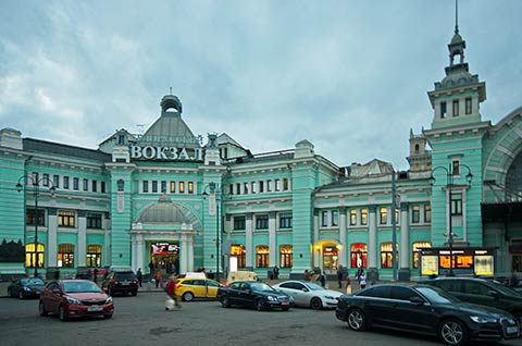 Belorussky railway station in Moscow