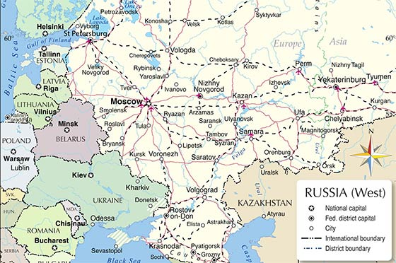 Map of European Russia (thumb)