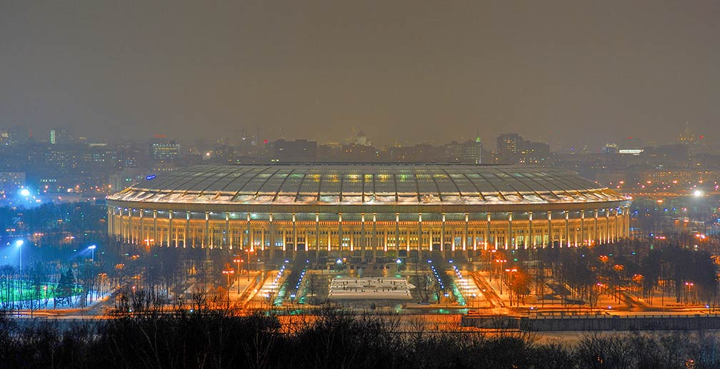 Luzhniki football stadium in Moscow
