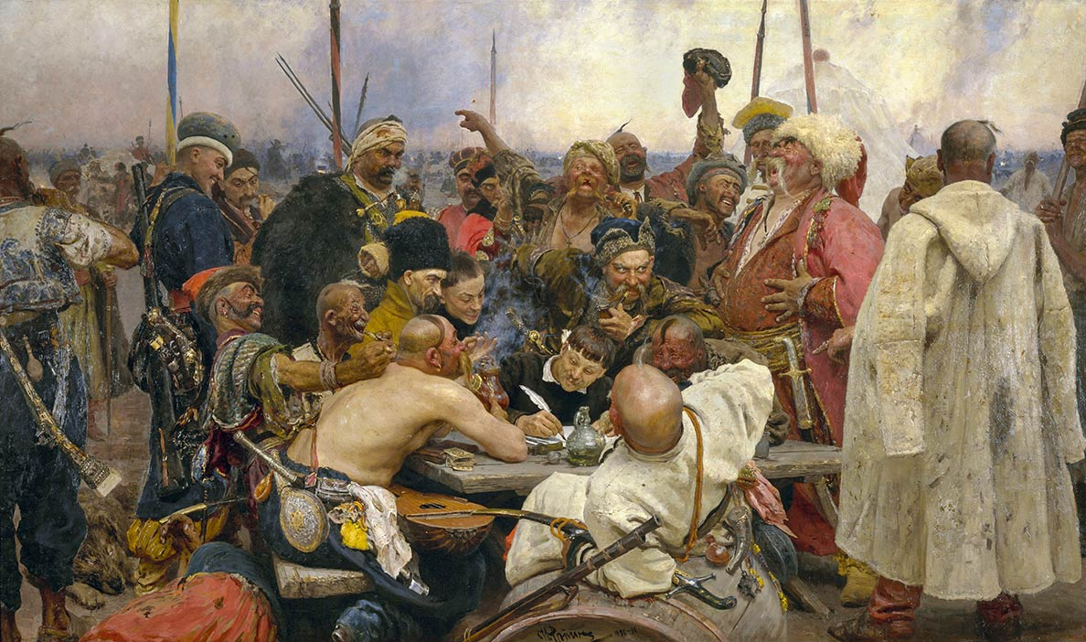 The Zaporozoic Cossacks write a letter to the Turkish Sultan Mehmed IV