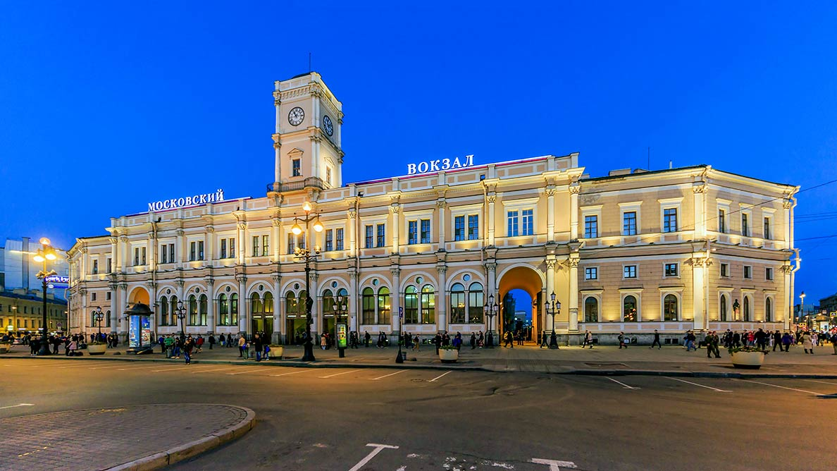 Building of Moskovsky railway terminus in Saint Petersburg