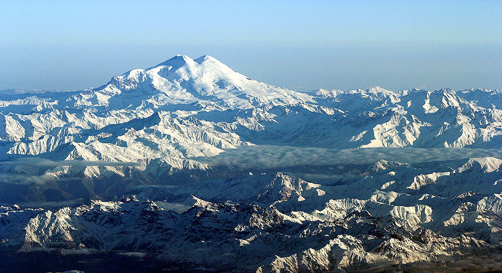 Mount Elbrus in the Caucasus Mountains of Russia