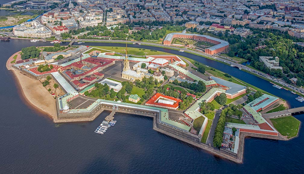 cc5c93fd5989b Aerial view of Peter and Paul Fortress on Zayachy Island in Saint Petersburg