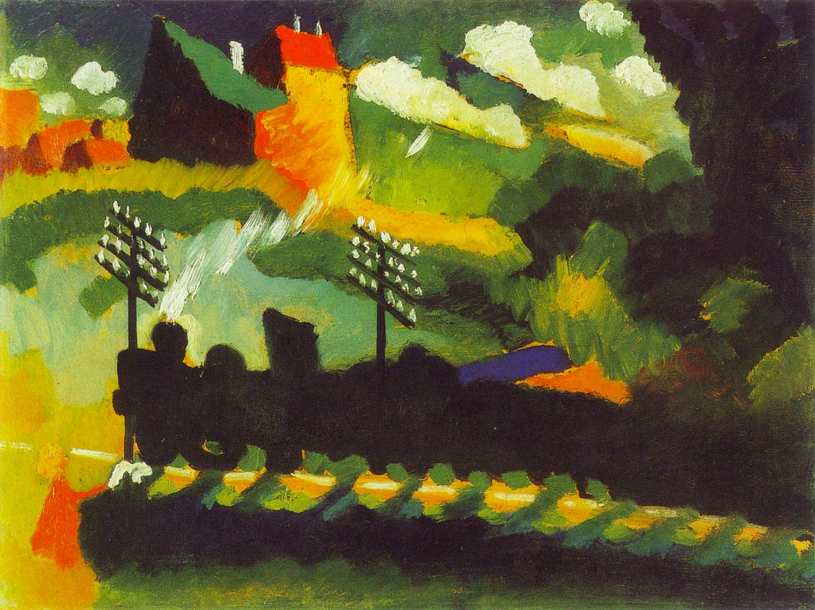Wassily Kandinsky: Murnau with railway and castle