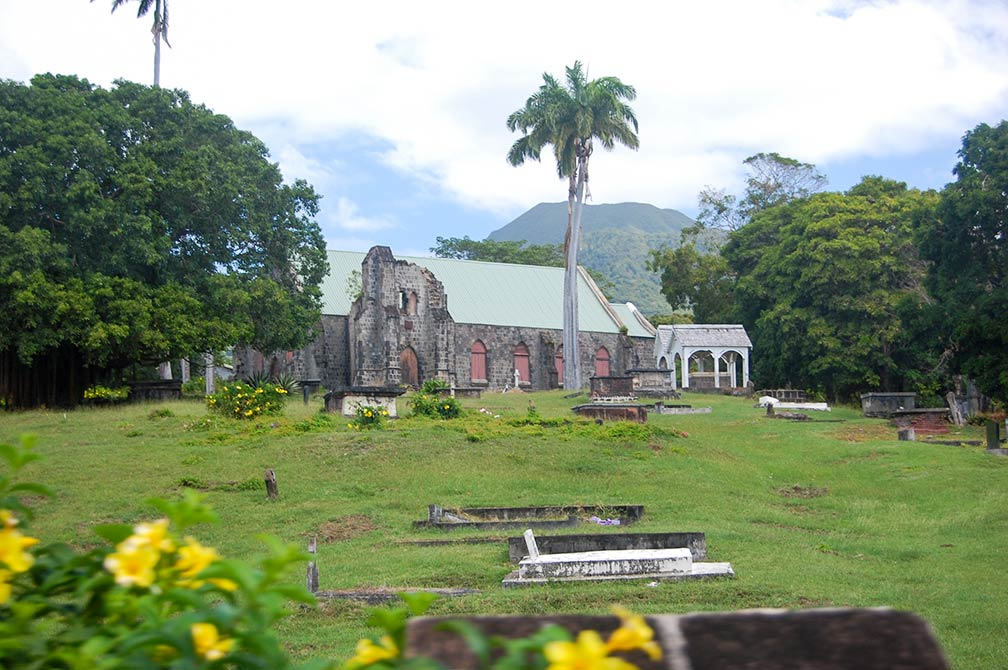 Ruins of Cottle Church, Round Hill Estate, island of Nevis